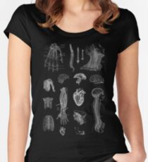 Vintage Anatomy Print  Women's Fitted Scoop T-Shirt