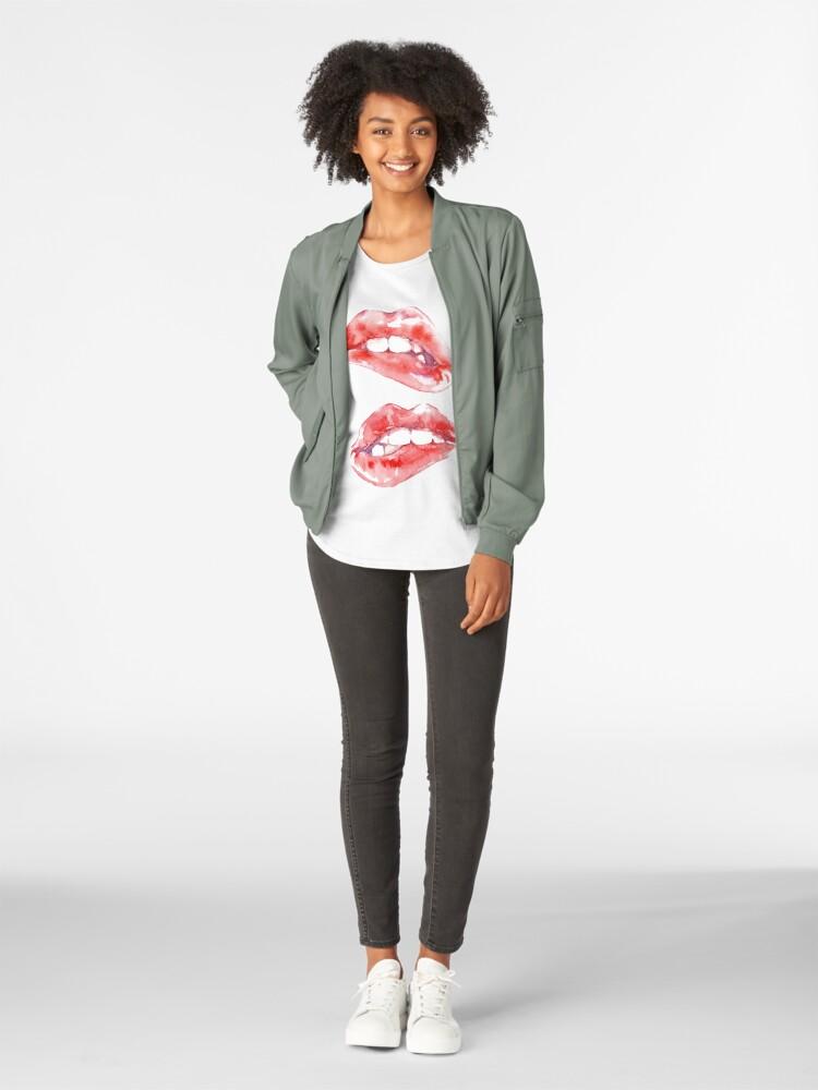 Alternate view of Biting Lips Premium Scoop T-Shirt