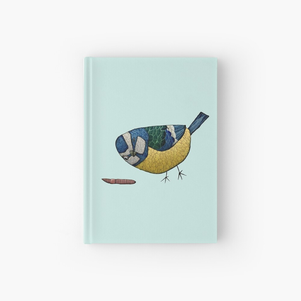 Blue Tit Hardcover Journal