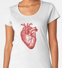 Vintage Heart Anatomy Women's Premium T-Shirt