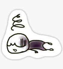Tired to death Sticker
