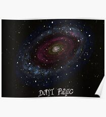 The Hitchhiker's Guide to the Galaxy Tshirt , Don't Panic Poster