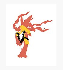 Mega Blaziken Evolution line Photographic Print