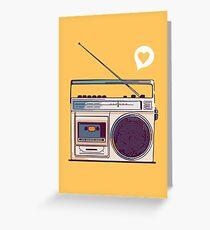Retro Radio Boombox Greeting Card