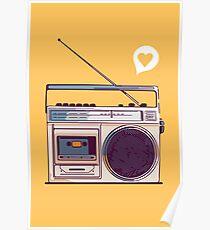 Retro Radio Boombox Poster
