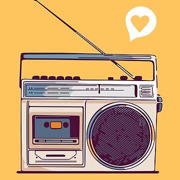 Retro Radio Boombox von sundrystudio