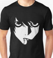 DEATH NOTE L WHITE BLACK T-Shirt