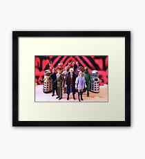 Third Doctor Figures Framed Print