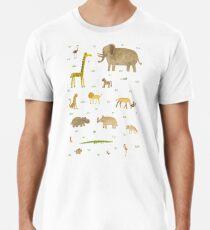Tiger/'s Head T-Shirt Men/'s White S-2XL Animal Lover Born Free Nature Jungle