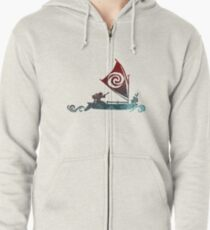 Boat Inspired Silhouette Zipped Hoodie