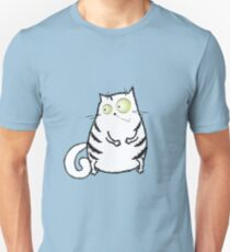 cute crazy white cat T-Shirt