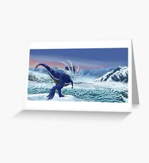 Shiny Tyrantrum Poke paleoart Greeting Card