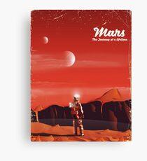 Mars Science fiction vintage travel poster Canvas Print