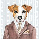 Jack Russell Dressed for Dinner by Helen Ashley