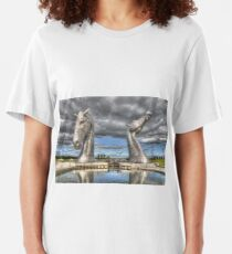 the Kelpies , Helix Park , Grangemouth  654 Slim Fit T-Shirt