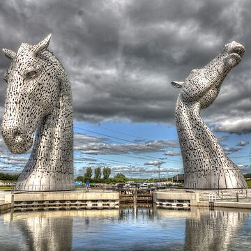 the Kelpies , Helix Park , Grangemouth  654 by goldyart