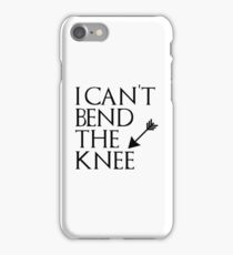 I can't bend the knee - I took an arrow in the knee iPhone Case/Skin