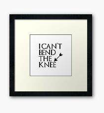 I can't bend the knee - I took an arrow in the knee Framed Print
