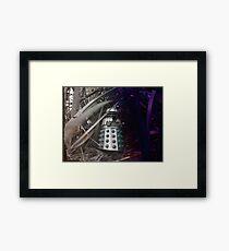 Dalek Jungle Figure Framed Print