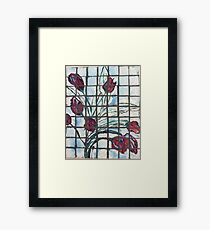 Glass Flowers Not Touched Framed Print