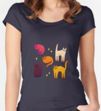 grumpy cats 1 Women's Fitted Scoop T-Shirt
