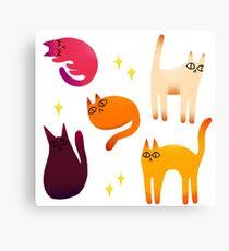 grumpy cats 1 Canvas Print
