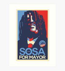 Sosa for president  glogangworldwide Art Print