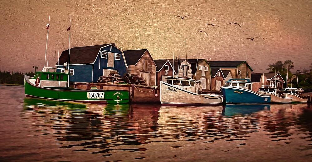 Lobstermen's Sunrise by Wib Dawson