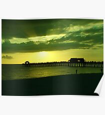 Sunset Green Poster