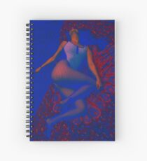 Kayla in the Red in the Blue Spiral Notebook
