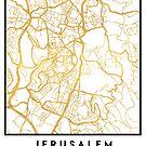 JERUSALEM ISRAEL PALESTINE CITY STREET MAP ART by deificusArt