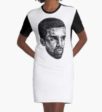 Scribbled Drizzy T-Shirt Kleid