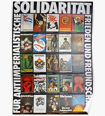 Anti Imperialist Solidarity - East German Antifa Poster Poster