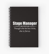 Stage Manager Gifts - Funny Women Assistant Shakespeare Quote Spiral Notebook