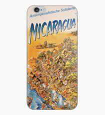 Nicaragua, Anti Imperialist Solidarity - East German Poster iPhone Case