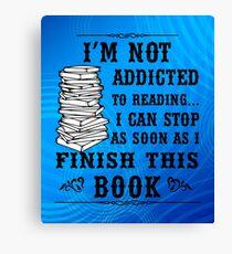 Addicted Reading Finish T Shirt Canvas Print