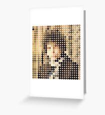Bob Dylan, Blonde On Blonde, Benday Dots Greeting Card