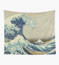 The Classic Japanese Great Wave off Kanagawa by Hokusai Wall Tapestry
