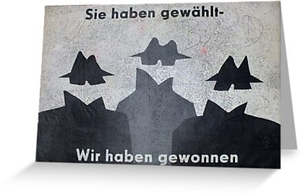 East German, Anti Election Poster, 1989 / 1990, East Berlin (3) by Remo Kurka