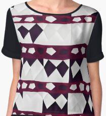 Irregular geometry Women's Chiffon Top
