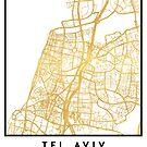 TEL AVIV ISRAEL CITY STREET MAP ART by deificusArt