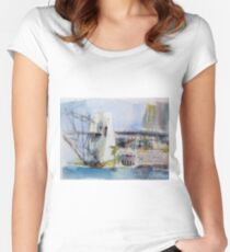 View of Sydney from McMahons Point Women's Fitted Scoop T-Shirt