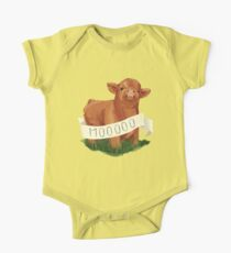 Baby Highland Cow One Piece - Short Sleeve