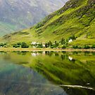 Reflections In Loch Duich by Mark Greenwood