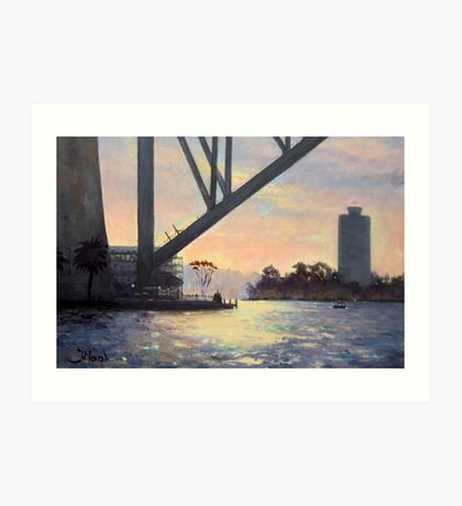 Under the Bridge, Sydney Harbour Painting Art Print