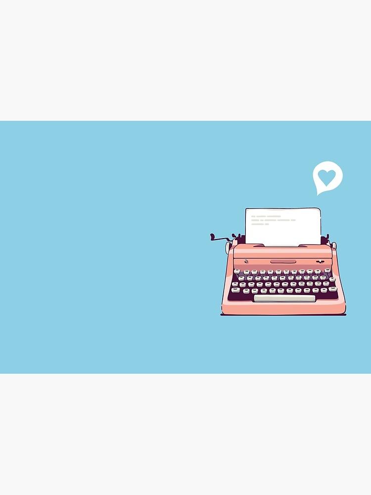Pink Retro Typewriter by sundrystudio
