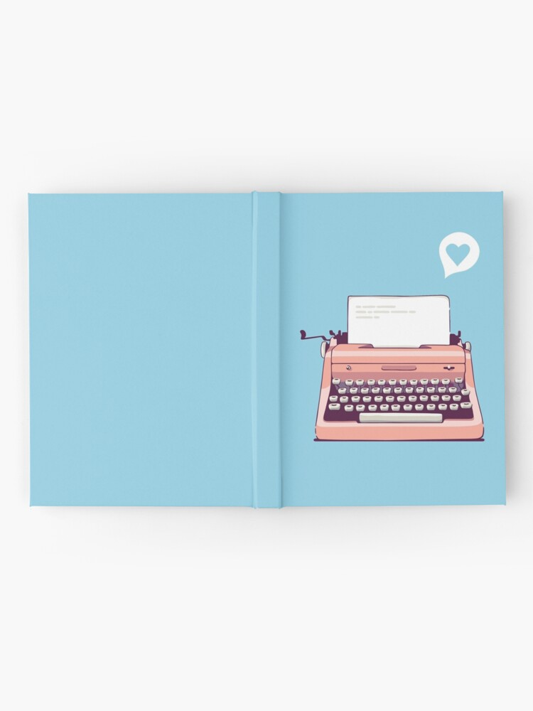 Alternate view of Pink Retro Typewriter Hardcover Journal