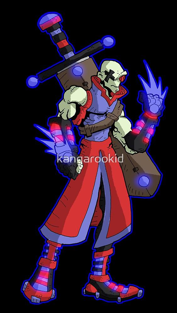 mercenary warrior by kangarookid