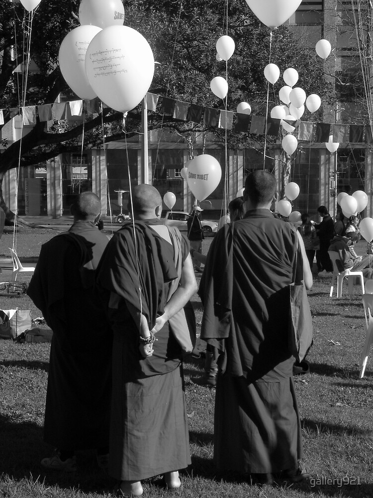 monks with balloons by gallery921