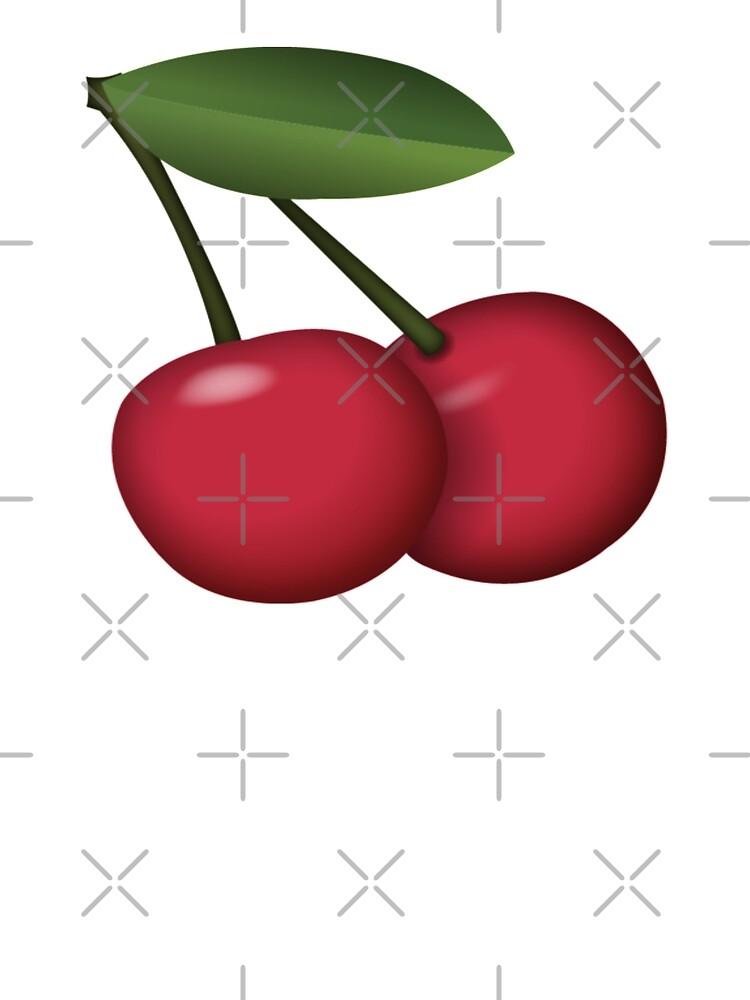 Sweet And Tasty Cherry Emoji T Shirt By Printpress Redbubble
